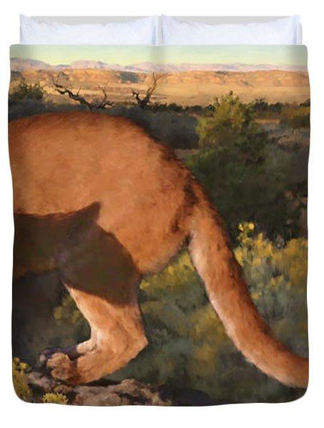 Cat Stretch Duvet Cover