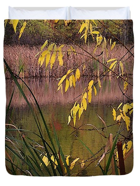 Cat Tails In A Pond Duvet Cover