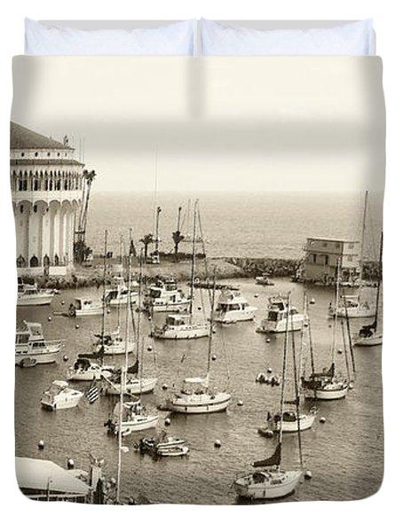 Catalina Island. Avalon Duvet Cover