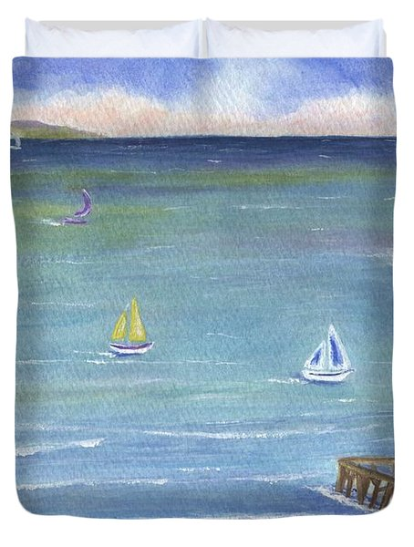 Catalina To Redondo Duvet Cover
