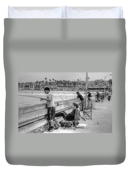 Catching More Than Fish Duvet Cover