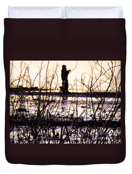Duvet Cover featuring the photograph Catching The Sunrise by Robyn King