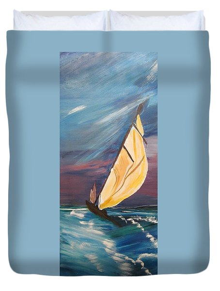 Catching The Wind Duvet Cover