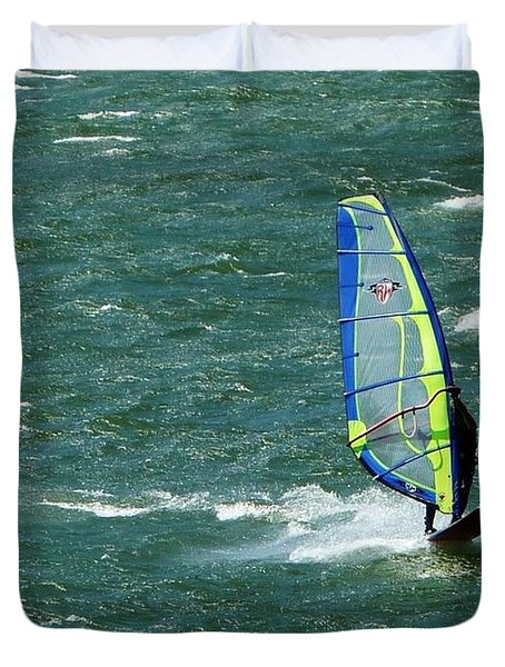 Catching Wind And Surf Duvet Cover