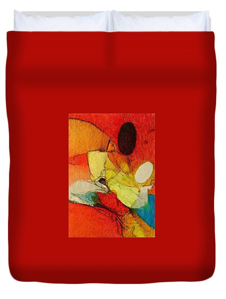Duvet Cover featuring the drawing Caterpillar  Vision by Cliff Spohn