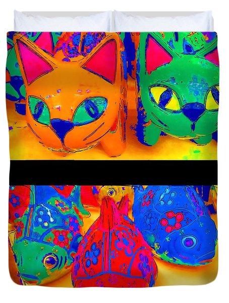 Catfish Duvet Cover