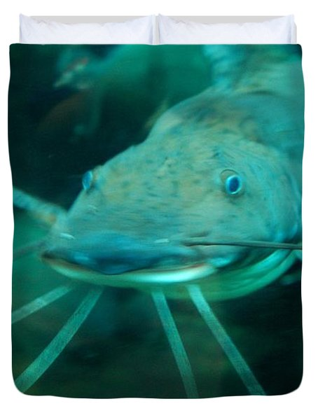 Duvet Cover featuring the photograph Catfish Billy by Anthony Wilkening