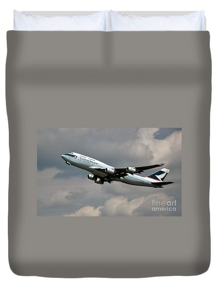 Cathay Pacific B-747-400 Duvet Cover