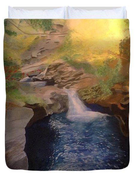 The Dark Gorge Duvet Cover