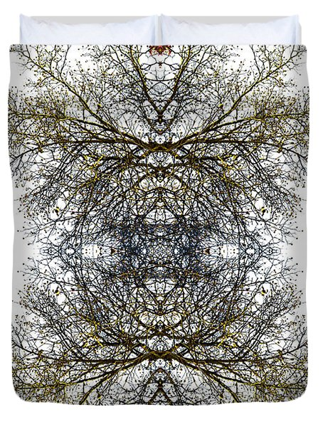 Cathedral Glass Duvet Cover by Debra and Dave Vanderlaan