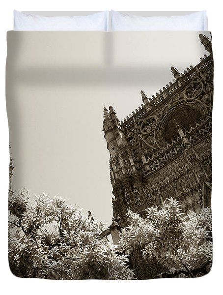 Cathedral Of Seville Duvet Cover