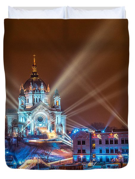 Cathedral Of St Paul Ready For Red Bull Crashed Ice Duvet Cover