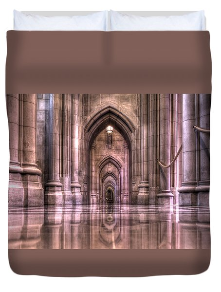 Cathedral Reflections Duvet Cover by Shelley Neff