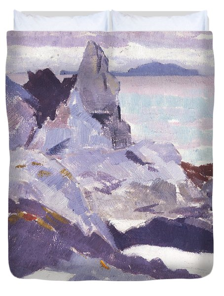 Cathedral Rock  Iona Duvet Cover by Francis Campbell Boileau Cadell