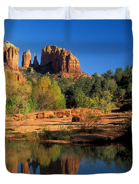 Cathedral Rock Duvet Cover by Mark Newman