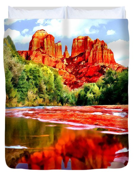 Cathedral Rock Sedona Arizona Duvet Cover