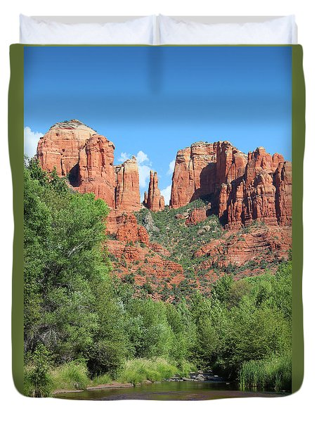 Cathedral Rock Sedona Duvet Cover