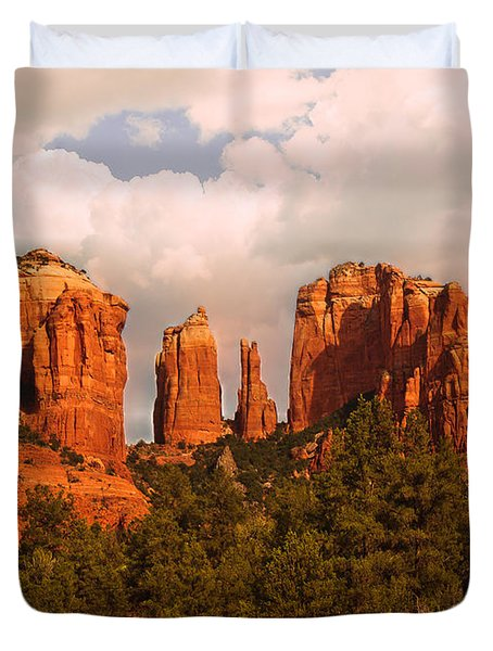 Cathedral Rock Sunset Duvet Cover