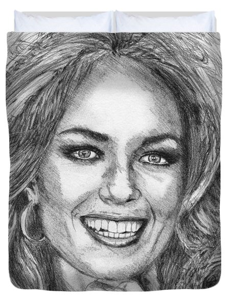 Catherine Bach In 1979 Duvet Cover by J McCombie