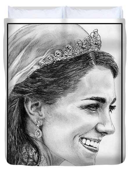 Catherine - Duchess Of Cambridge In 2011 Duvet Cover by J McCombie