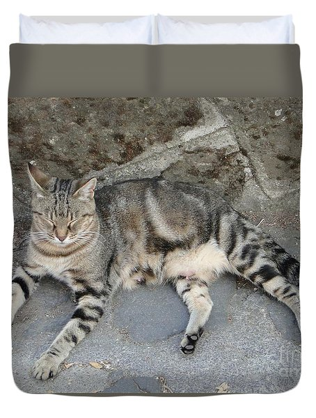 Catouflage Duvet Cover by Barbie Corbett-Newmin