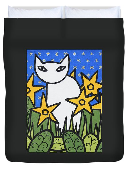Cats 2 Duvet Cover by Trudie Canwood