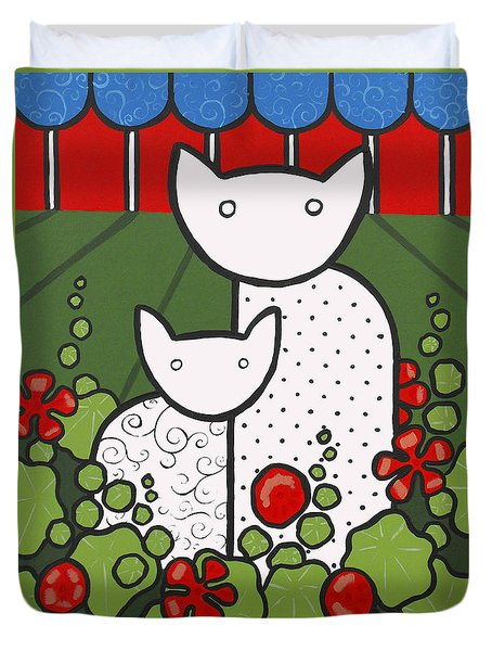 Cats 5 Duvet Cover by Trudie Canwood