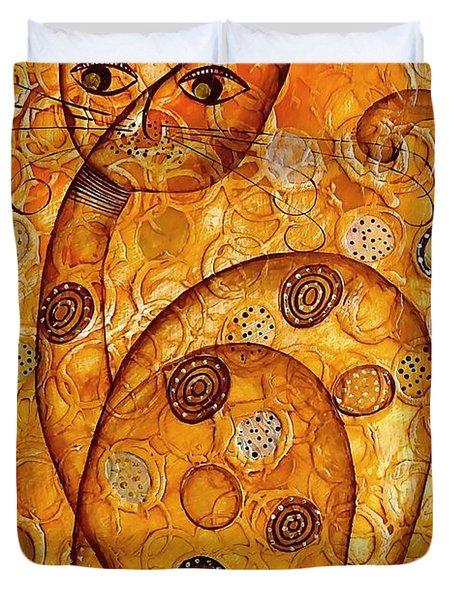 Cats 694 Duvet Cover by Marek Lutek