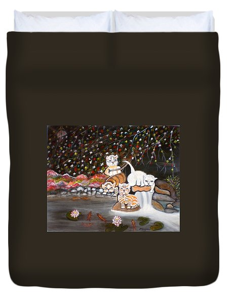 Cats In The Wild II Duvet Cover