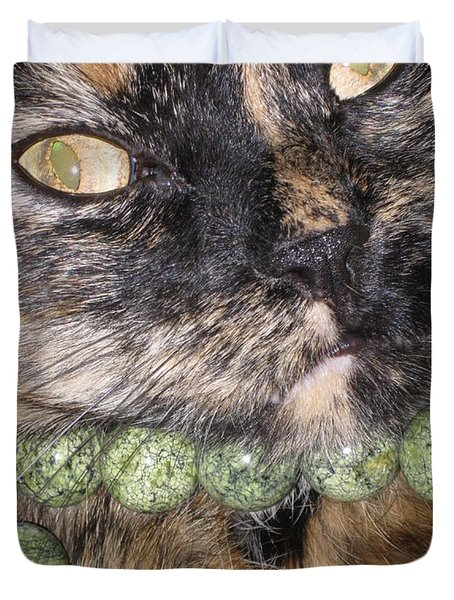 One In A Million... Beauty Of Cat's Eyes. Hello Pearl Collection Duvet Cover