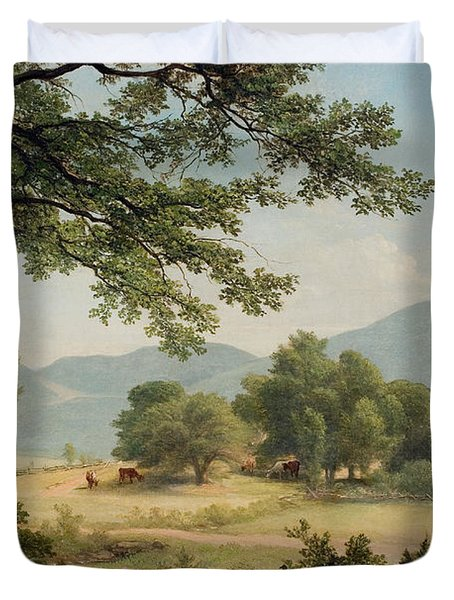 Catskill Meadows In Summer Duvet Cover by Asher Brown Durand