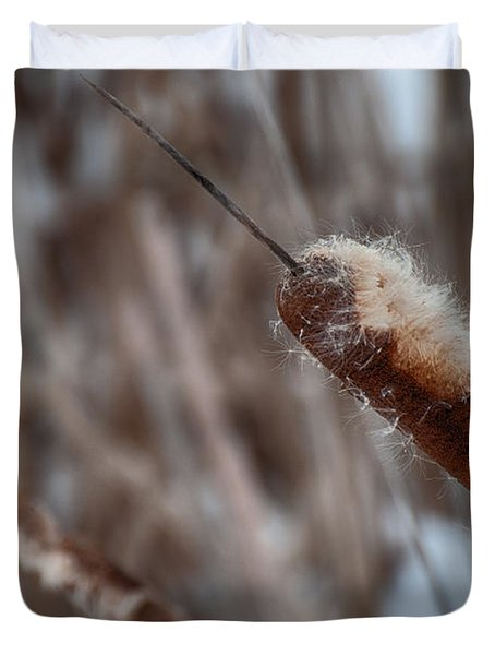 Duvet Cover featuring the photograph Cattails by Bianca Nadeau