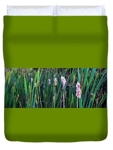 Duvet Cover featuring the photograph Cattails by Daniel Thompson