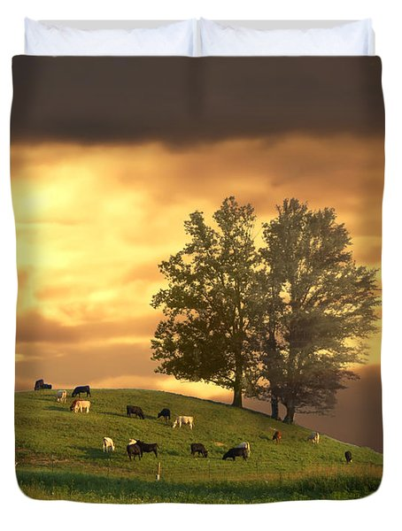 Cattle On A Hill Duvet Cover