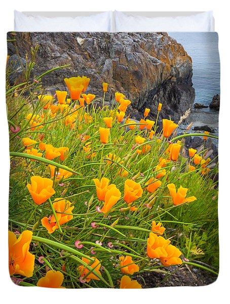 Cattle Point Poppies Duvet Cover