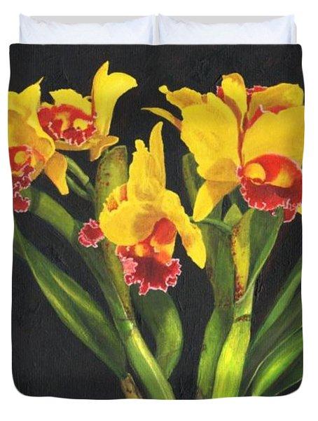 Cattleya Orchid Duvet Cover by Richard Harpum