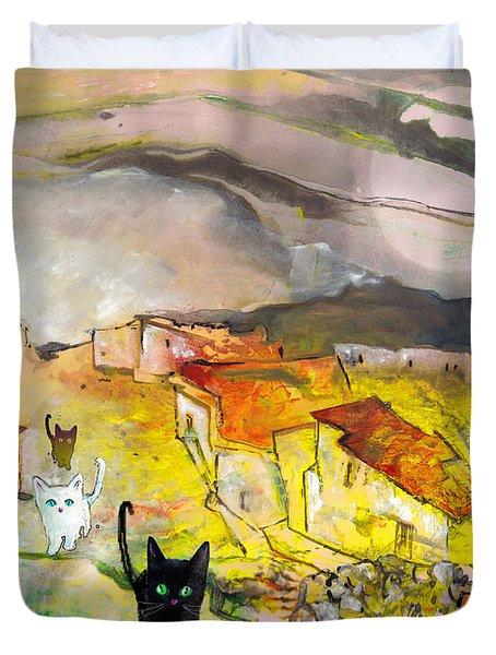 Catwalk Duvet Cover by Miki De Goodaboom