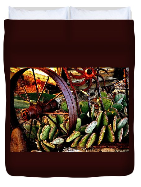 Duvet Cover featuring the photograph Caught In A Cactus Patch-sold by Antonia Citrino
