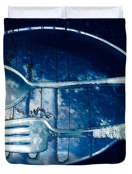 Blue Luster Duvet Cover