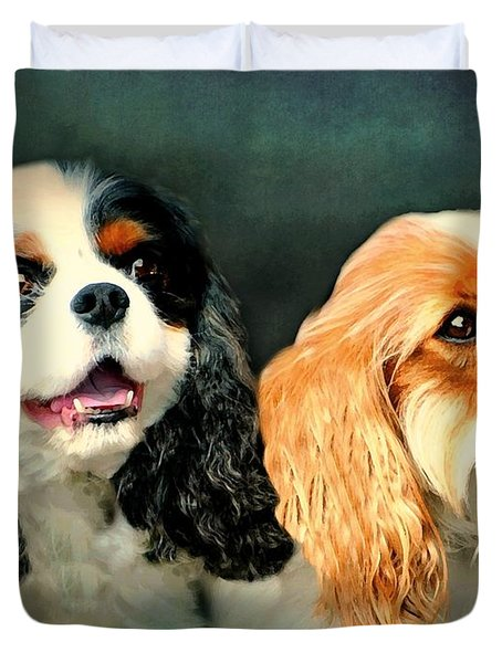 Cavalier King Charles Duvet Cover by Diana Angstadt