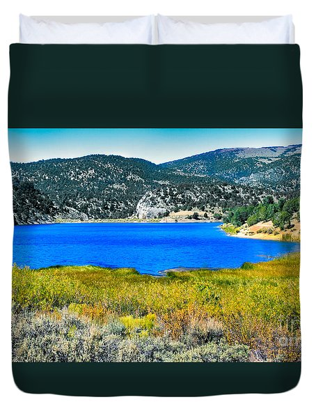Cave Lake Duvet Cover by Robert Bales