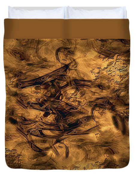 Cave Painting Duvet Cover by RC deWinter