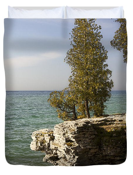 Cave Point - Signed Duvet Cover
