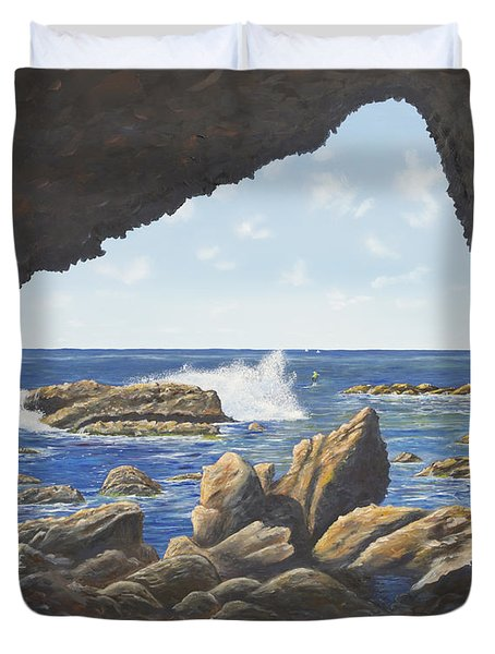 Cave View Duvet Cover