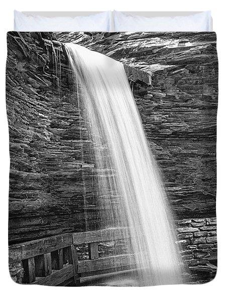 Cavern Cascade Watkins Glen Duvet Cover