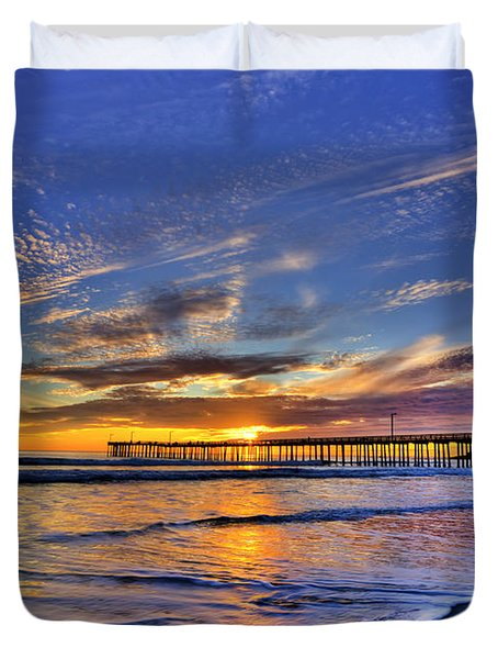 Cayucos Sunset Duvet Cover