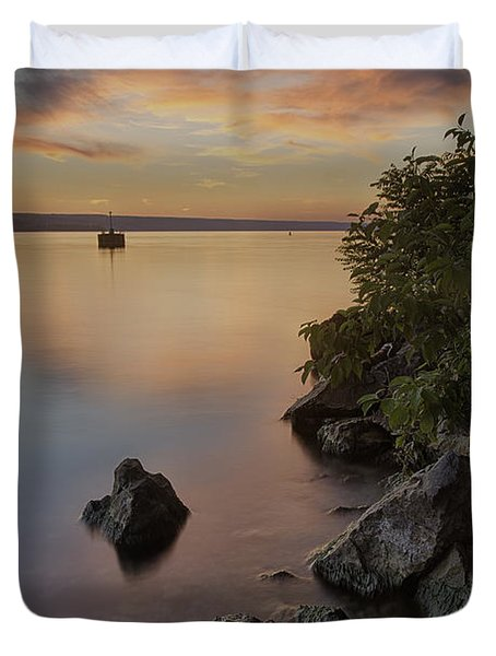 Cayuga Sunset I Duvet Cover