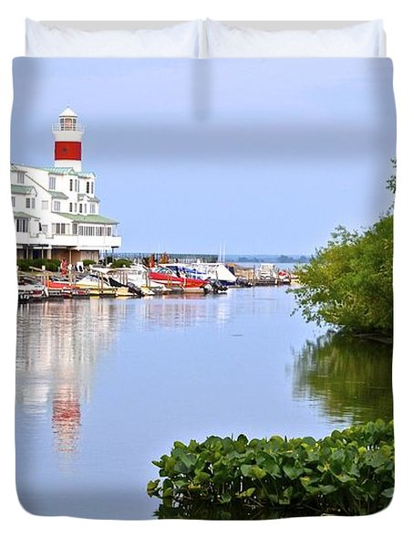 Cedar Point Ohio Duvet Cover by Frozen in Time Fine Art Photography