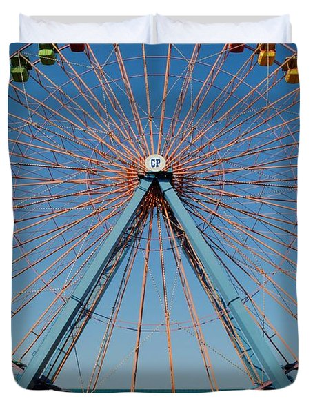 Cedar Point Sunday Duvet Cover by Frozen in Time Fine Art Photography