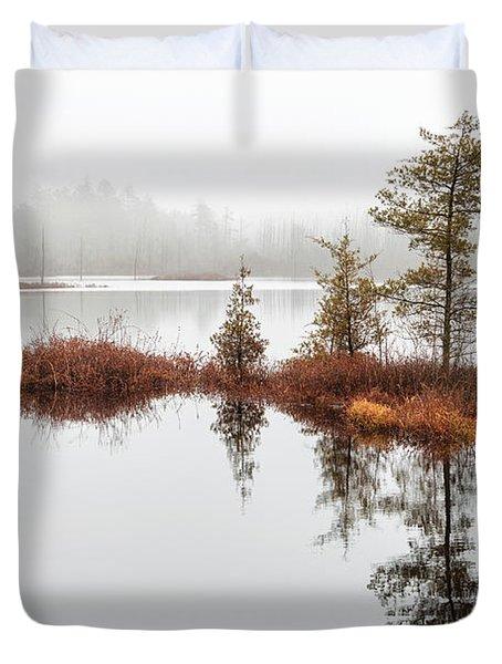 Cedar Tree Island Duvet Cover